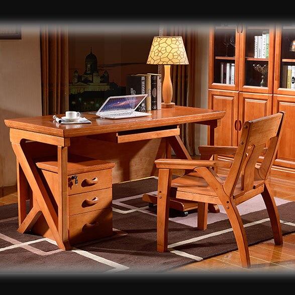 Libro madera apoyabrazos simple escritorio de roble casa - Mesa ordenador madera ...
