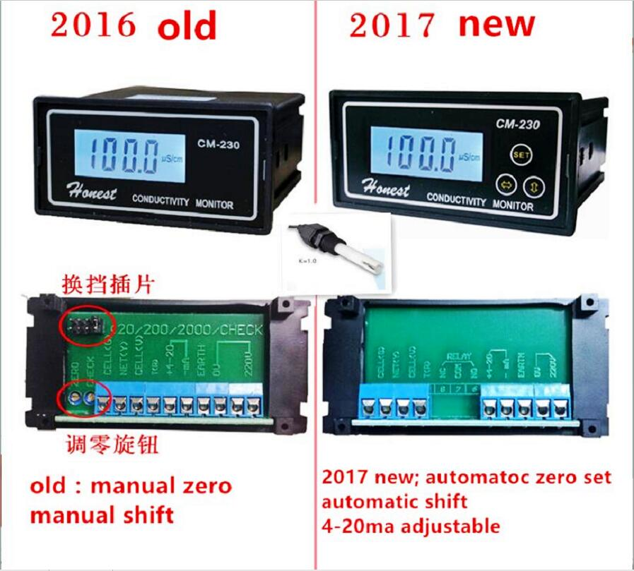 Conductivity Meter Conductivity Tester Monitor Pure water meter monitor CM 230 With 4 20ma adjustable