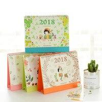 Cute Cartoon Desk Calendar 2017 2018 Two Year Desk Calendar Weekly Planner Give Stickers Many Styles