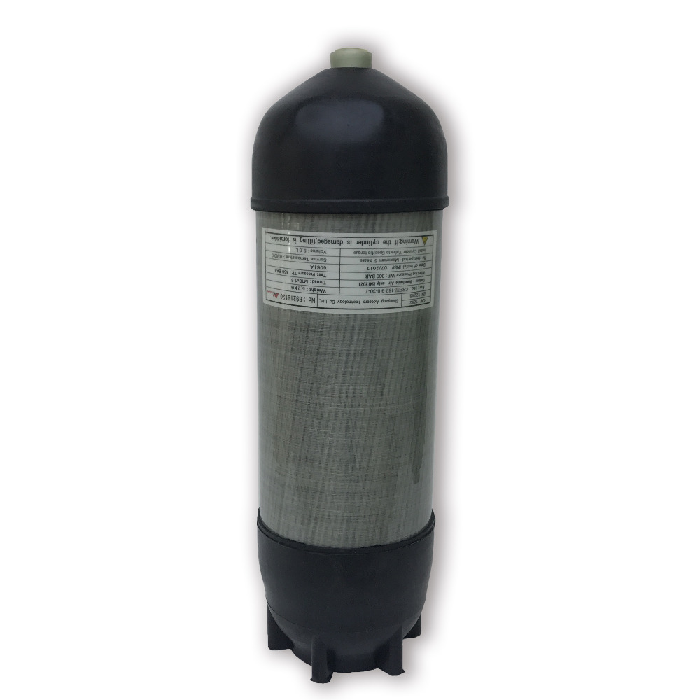 AC10991 4500psi 9L CE PCP Airsoft Tank Breathing Compressed Air Carbon Fiber Scuba Diving Cylinder With Cover Boots Acecare