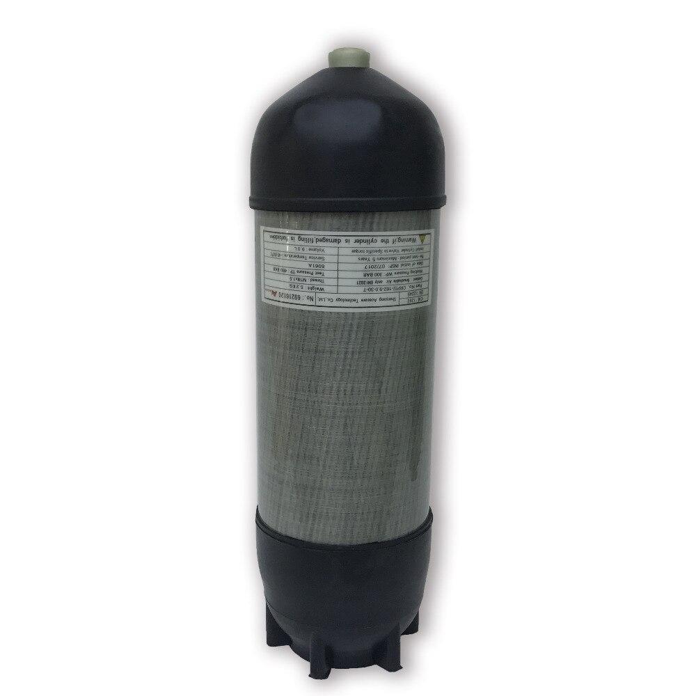 CE 4500psi 9L PCP airsoft réservoir respirant l'air comprimé carbone fibre plongée sous-marine cylindre avec couverture boot livraison directe AC10991