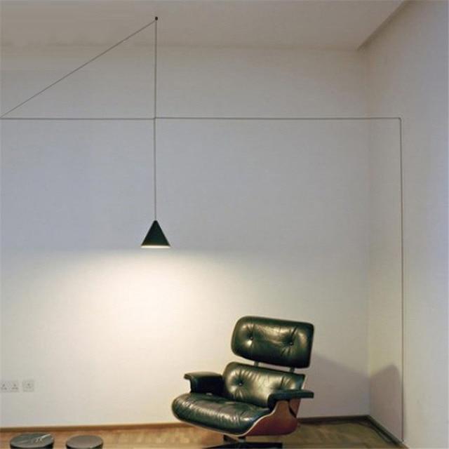 Nordic creativo linea led lampade a sospensione moderna fashion art comodino camera da letto - Lampade per comodino letto ...