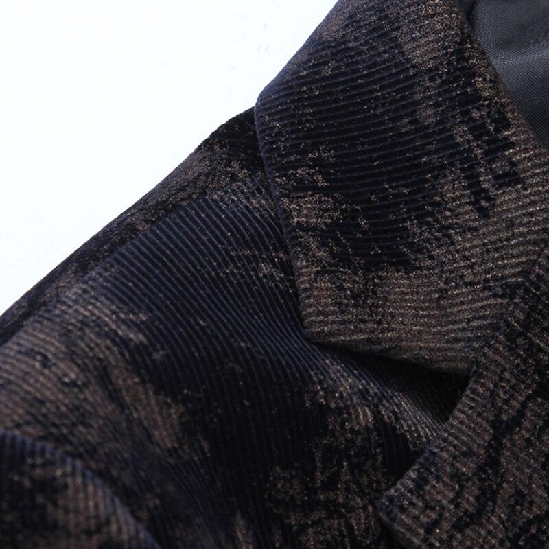 2018 новый стиль, утолщенные пальто с камуфляжным принтом, мужские модные блейзеры, мужская куртка, Мужской однобортный повседневный деловой ... - 4