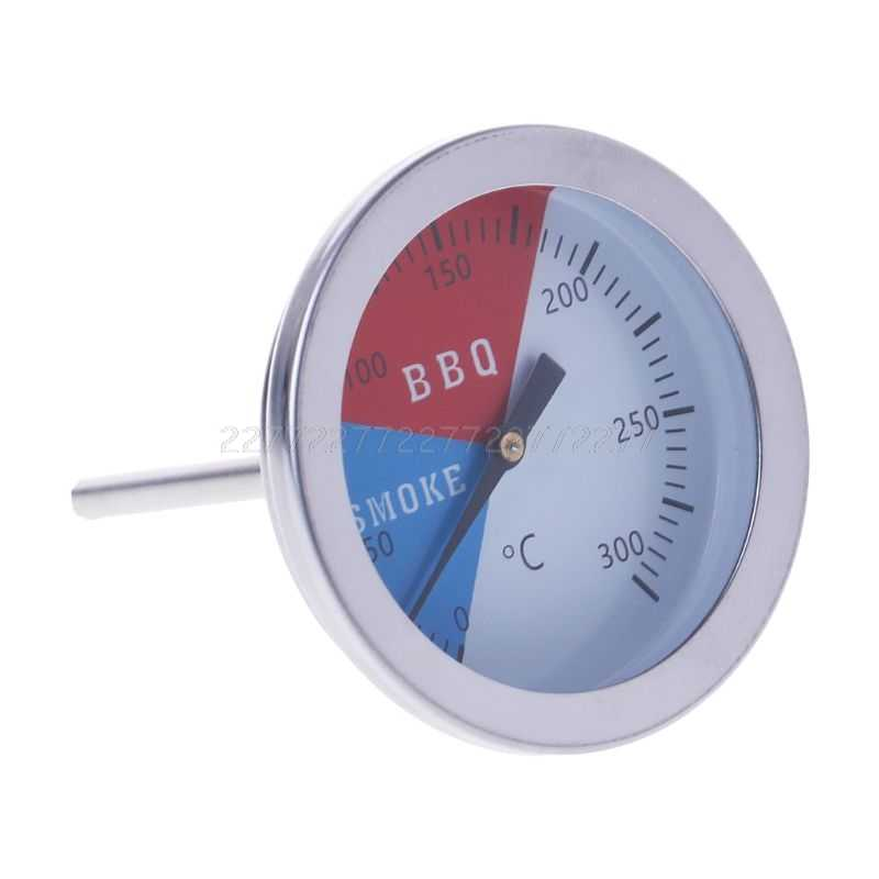 300 Degrees Thermometer BBQ Smoke Grill Oven Temperature Gauge Outdoor Camp Tool N24 dropship