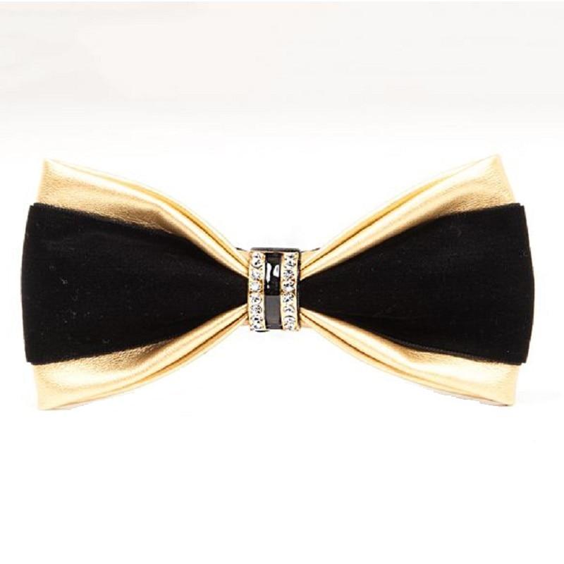 slap-up bow tie men fashion PU diamond bowtie wedding party business gift butterfly for men women dinner neckwear red blue