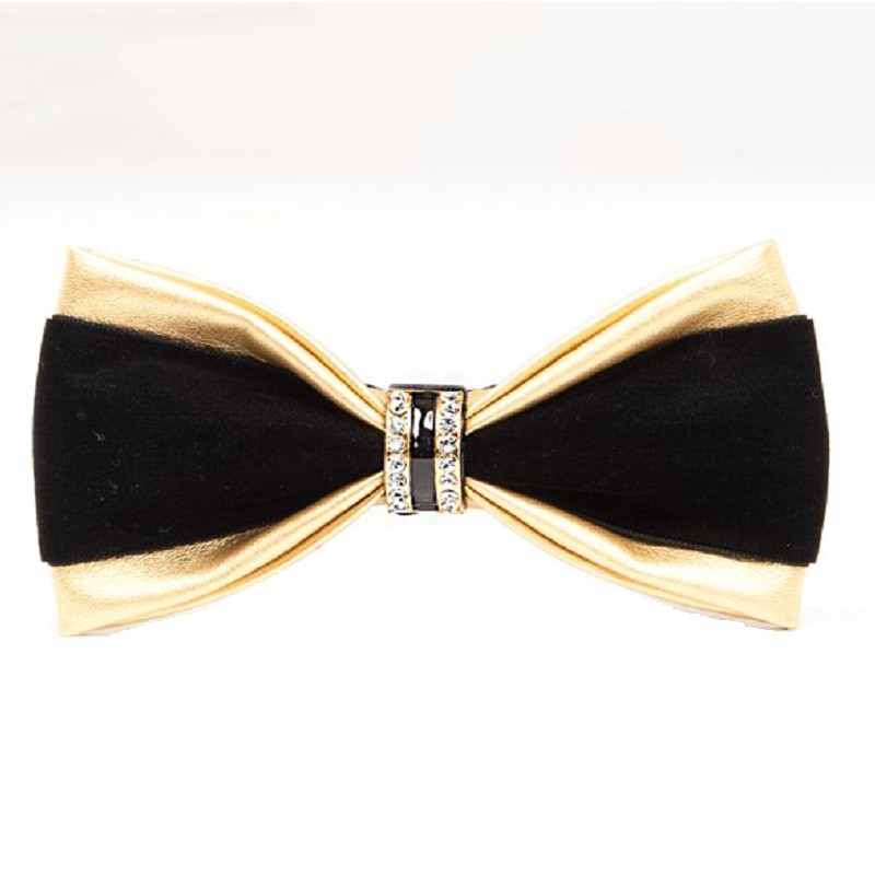 Slap-up Bow Tie Men Fashion PU Diamond Bowtie Wedding Party Business Gift Butterfly For Men Women Dinner Neckwear Red Blue