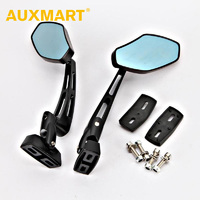Auxmart Smoke Blue universal 124* 61mm motocross AT Offroad dirt pit bike motorbike side mirror moto rearview motorcycle mirror