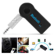 Geartronics Handsfree Car Bluetooth Music Receiver Universal 3.5mm Streaming A2DP Wireless Auto AUX Audio With Mic vaorlo aux bluetooth receivers car kit with mic music wireless adapter a2dp 3 5mm stereo audio bluetooth receiver for car phones