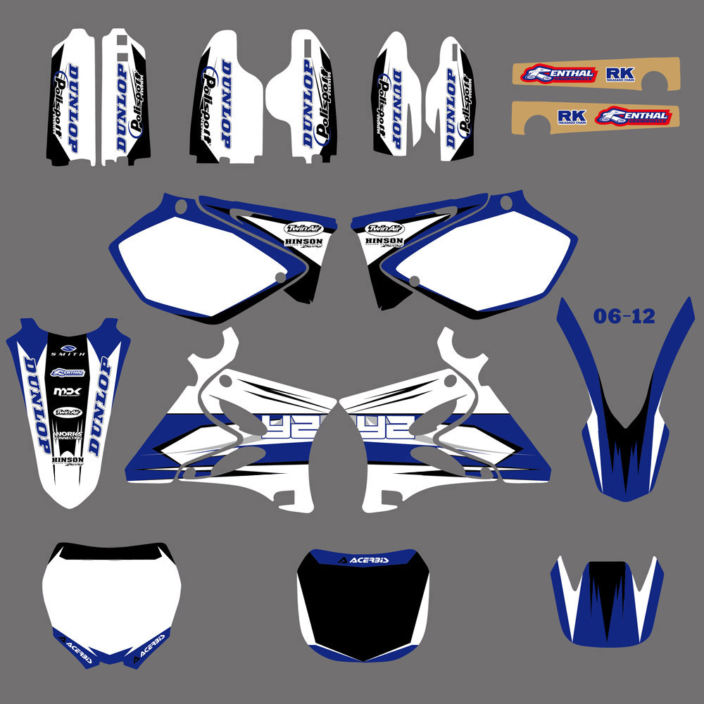 Motorcycle Graphics Decals Stickers For Yamaha YZ125 YZ250 2002 2003 2004 2005 06 07 08 09 10 11 12 2013 2014 YZ 125 250