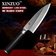 XINZUO 7 inch deba knife scabbard German steel chef knife supper sharp sashimi knife Japanese knife ebony handle free shipping