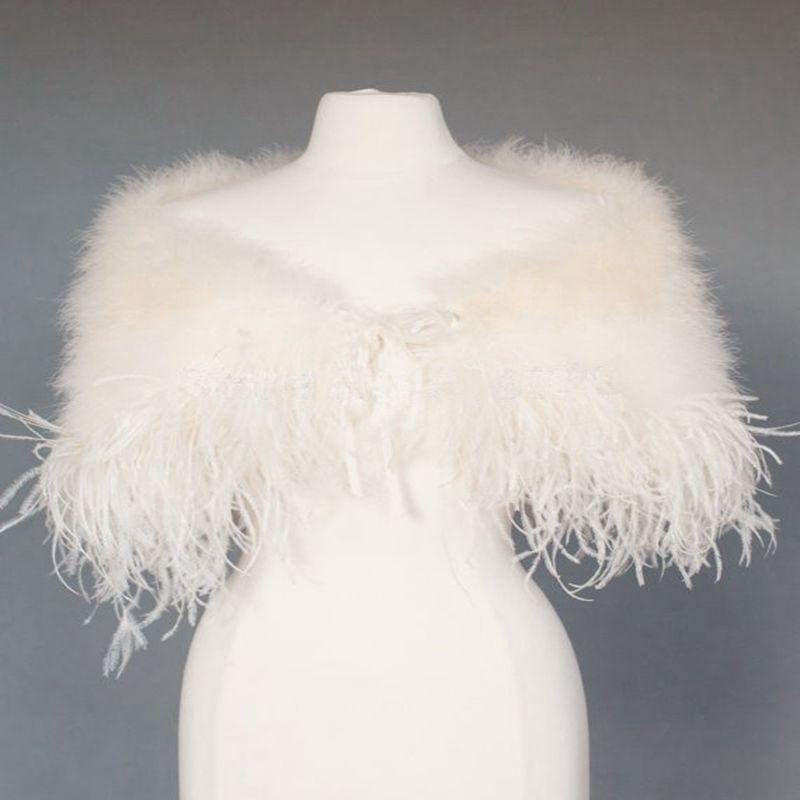 estolas de piel ostritch plumas de imitacin bolero wraps boda bolero de hombros de novia