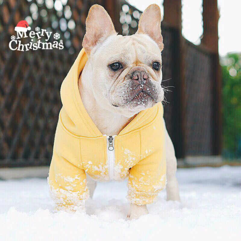 French Bulldog Clothing autumn and winter thickening Hats Sweater Small and  medium dogs pug Corgi Poodle f0f60f0de91