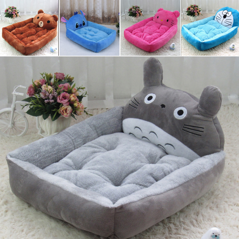 Pet Dog Bed Animal Cartoon Shaped Dog House Sofa Puppy Flannel Kennel Cat Litter Pet Cat Mats Big Dog Bed Cat Kennel Plush Mat