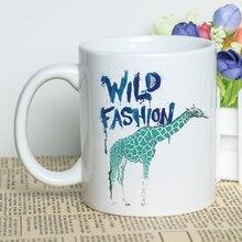 Jirafa de diseño Animal tazas 11 oz 330 ml decorativa de cerámica tazas con  de impresión 814f758f2e6