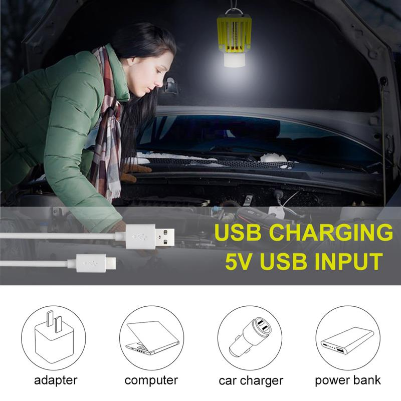 IP66 Waterproof RUNACC 3W Camping Lantern LED Flashlight Bug Zapper with 2200mAh Rechargeable Battery