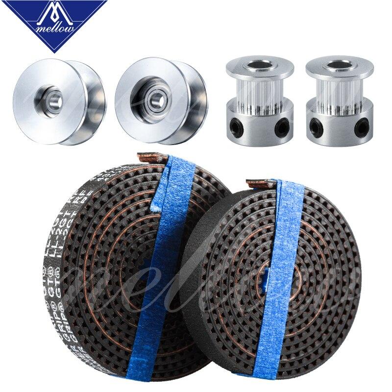 10pcs 3D Printer Idle Pulley Gear Wheel Gear Teeth for GT2 6mm Wide Timing Belt