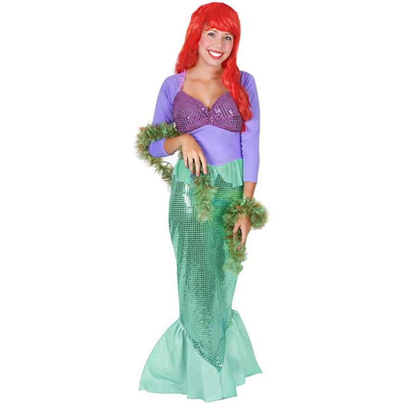 Adult Women Ariel Little Mermaid Halloween Cosplay Costume