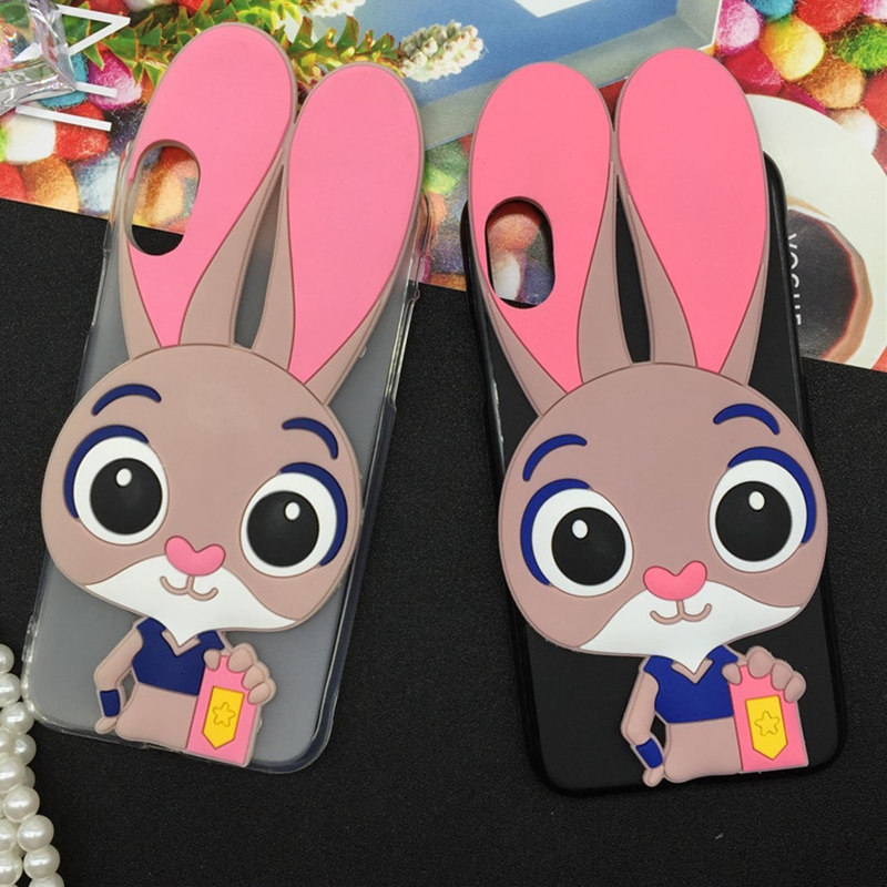Luxury Rabbit Soft Case for Fly IQ4503 ERA Life 6 Quad Cartoon Cover Phone Cases Fashion TPU Silicone Capa Fundas Bag