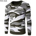 Men's Sweaters 2016 Winter New Men Slim Round Neck Sweater Fashion Camouflage Warm Sweaters Men's Size M-XXL