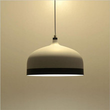 Modern Minimalism Nordic White/Black Painted Aluminum Led E27 Pendant Light for Dining Room Restaurant bar Dia 33cm 1612
