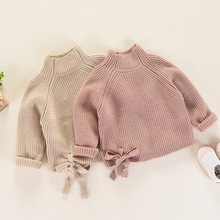 Autumn Winter Kids Sweater For Girls Thick Knit Pullovers Outerwear Turtleneck Children Girls Sweater RT130
