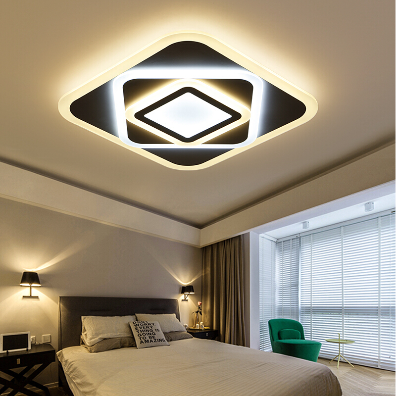 New Modern Led Ceiling Lights For Living Room Study/Bedroom Home Decor AC85-265V lamparas de techo Acryli Led Ceiling Lamp new design modern led ceiling lights for living room bedroom white or black aluminum home ceiling lamp lamparas de techo
