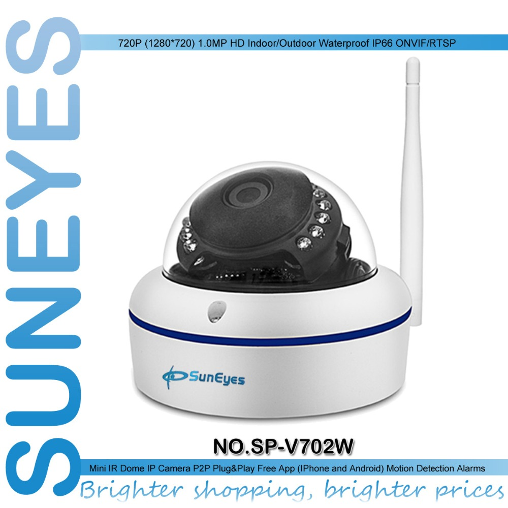 ФОТО SunEyes  SP-V702W 720P HD Mini Dome IP Camera Outdoor Wireless Wifi Weatherproof ONVIF and RTSP with Free P2P Metal Alloy Case
