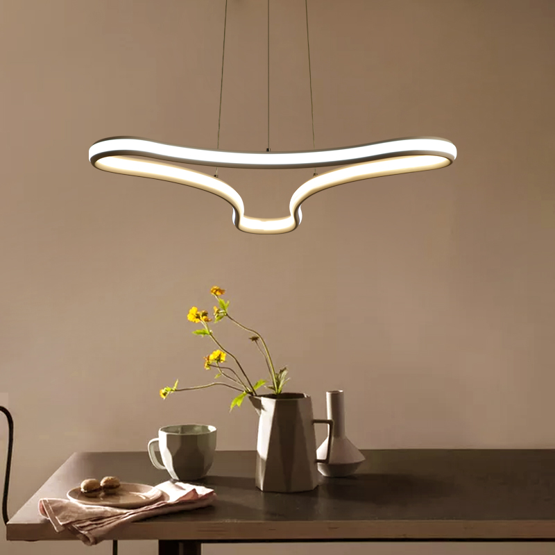 купить NEO Gleam Minimalism modern led pendant lights for dining living room suspension luminaire suspendu hanging pendant lamp fixture дешево