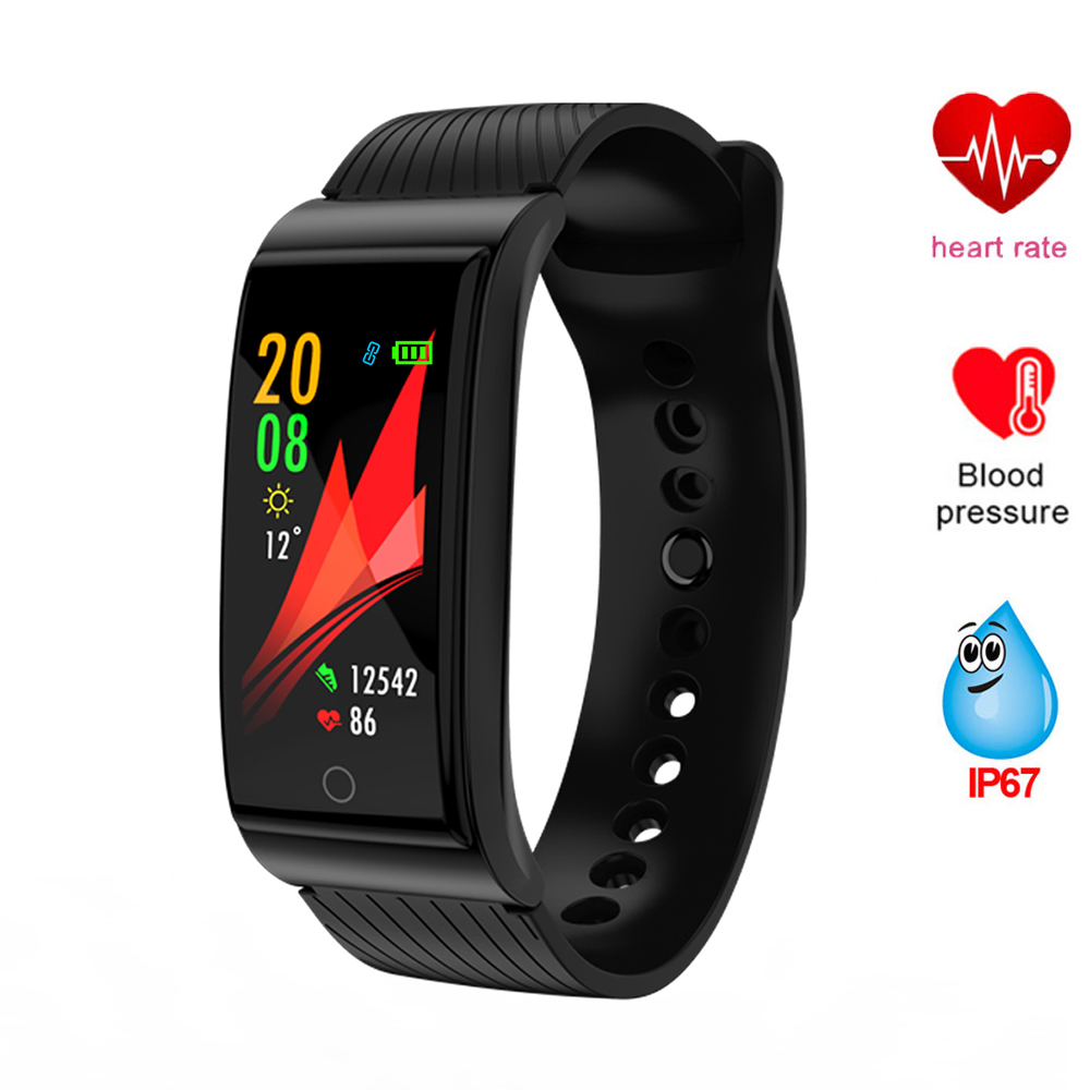 Smart Wristband Watch Fitness Bracelet Band Color Screen Pedometer Heart Rate Tracker Blood Pressure Watch Waterproof Wristband fashion women color screen smart band wristband heart rate blood pressure monitor fitness bracelet tracker smartband pedometer