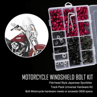223psc Case New Complete Motorcycle Windshield Fairing Bolts Nuts Screws Washer Kit Fastener Clips Screws Aluminum