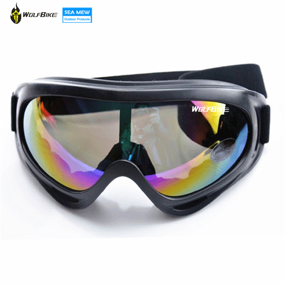 WOLFBIKE Windproof Airsoft Snöskoter Skidglasögon Skyddsglasögon Outdoor Motorcycle Colorful Cykling Solglasögon Eyewear