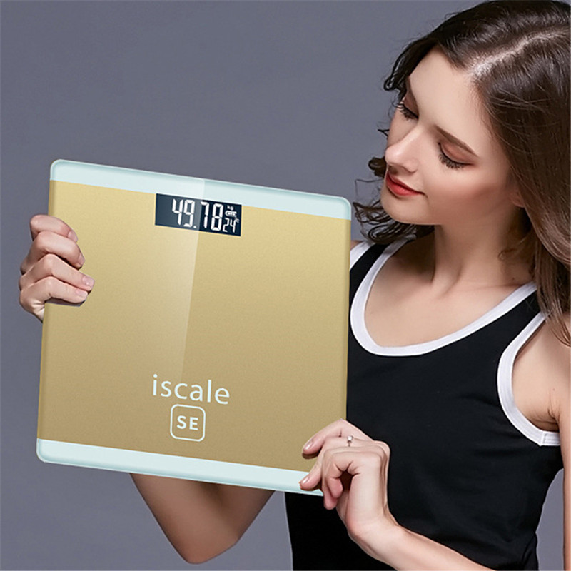 Bathroom Scales LCD Display Upgraded Sensor Digital USB Charging Smart Electronic Scale 180KG Body Health Fit Weight Scale