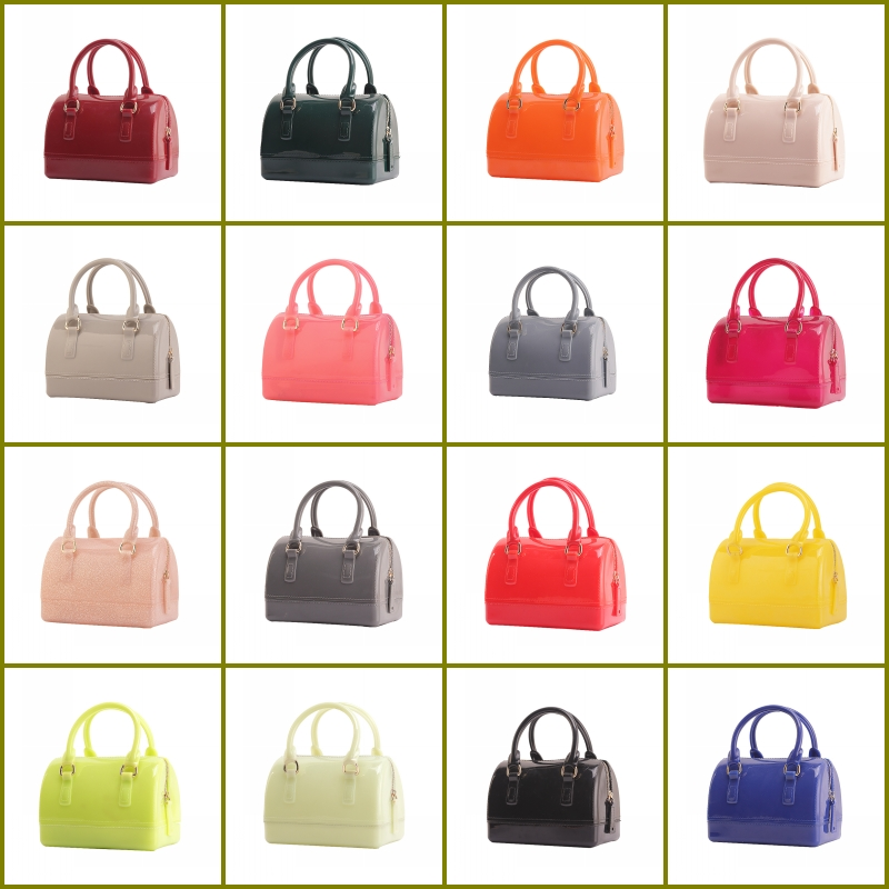 a6d128c549 2018 New Summer Fashion Trend Jelly Mini Candy Satchel Tote Bag Mini Size  Pillow Bags Mail bag Child Female Handbags-in Shoulder Bags from Luggage    Bags on ...