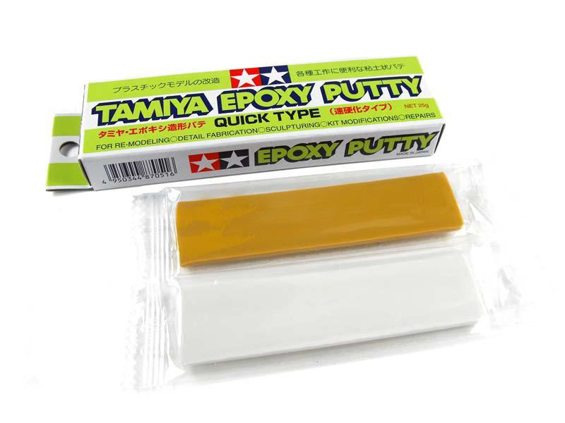Tamiya 87051 Quick Dry Type AB/Epoxy Putty 25g Model Craft Tools Fast Drying NIBTamiya 87051 Quick Dry Type AB/Epoxy Putty 25g Model Craft Tools Fast Drying NIB