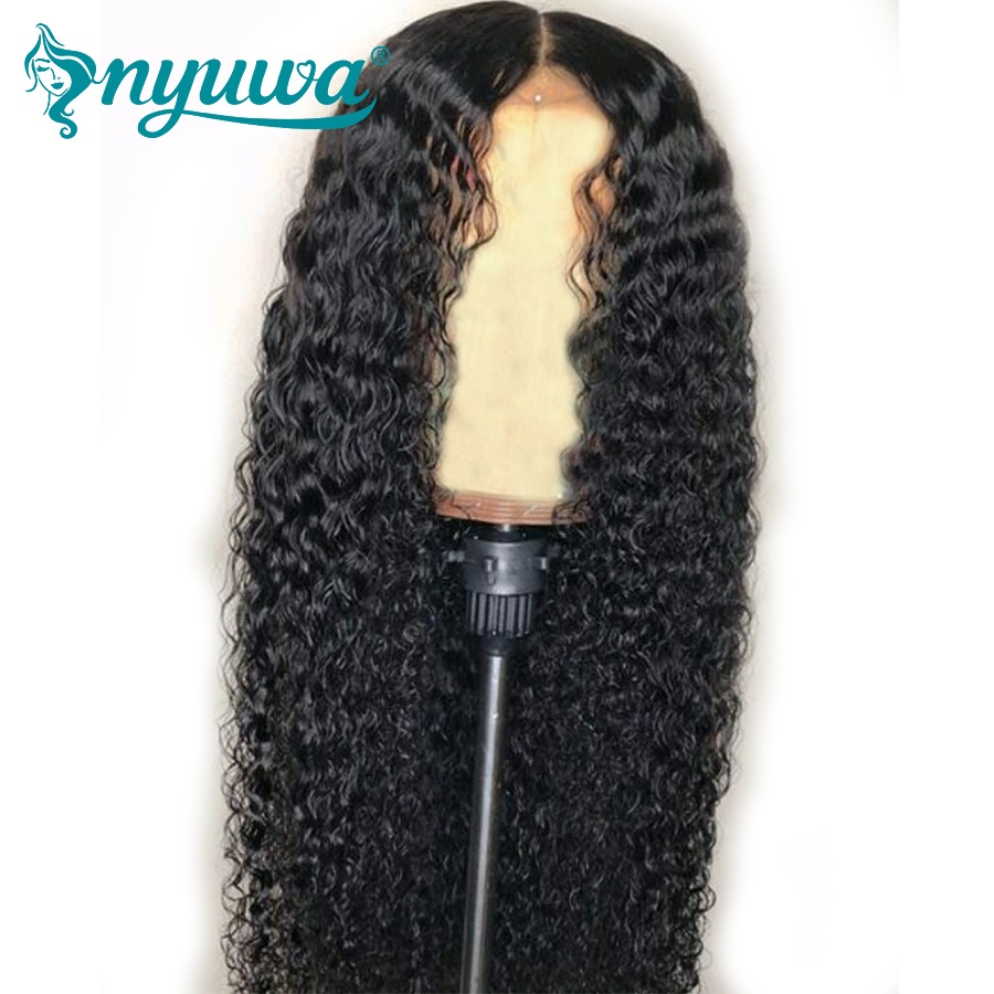 NYUWA Full Lace Human Hair Wigs Pre Plucked With Baby Hair Brazilian Remy Hair Glueless Curly Full Lace Wigs For Women 130%/150%