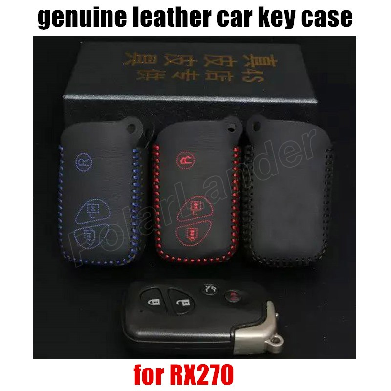 Only Red great quality hot sale Car key cover car key case Hand sewing car styling Genuine leather fit for LEXUS RX270