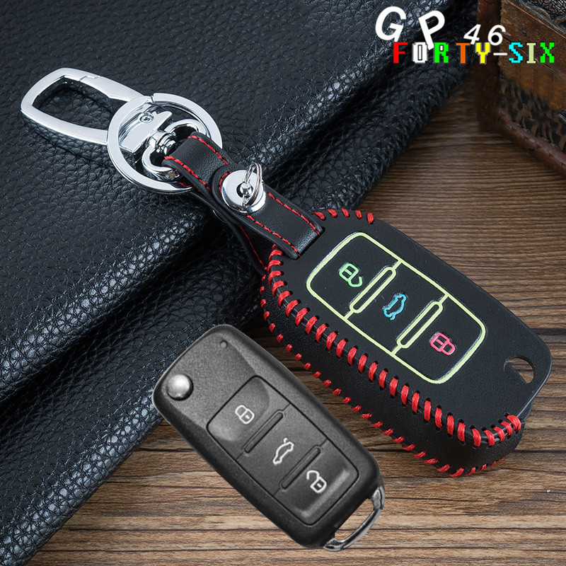 GPFORTYSIX Car Luminous Key Cover Case Chain For For VW Touran Caddy Tiguan Lavida Bora  ...