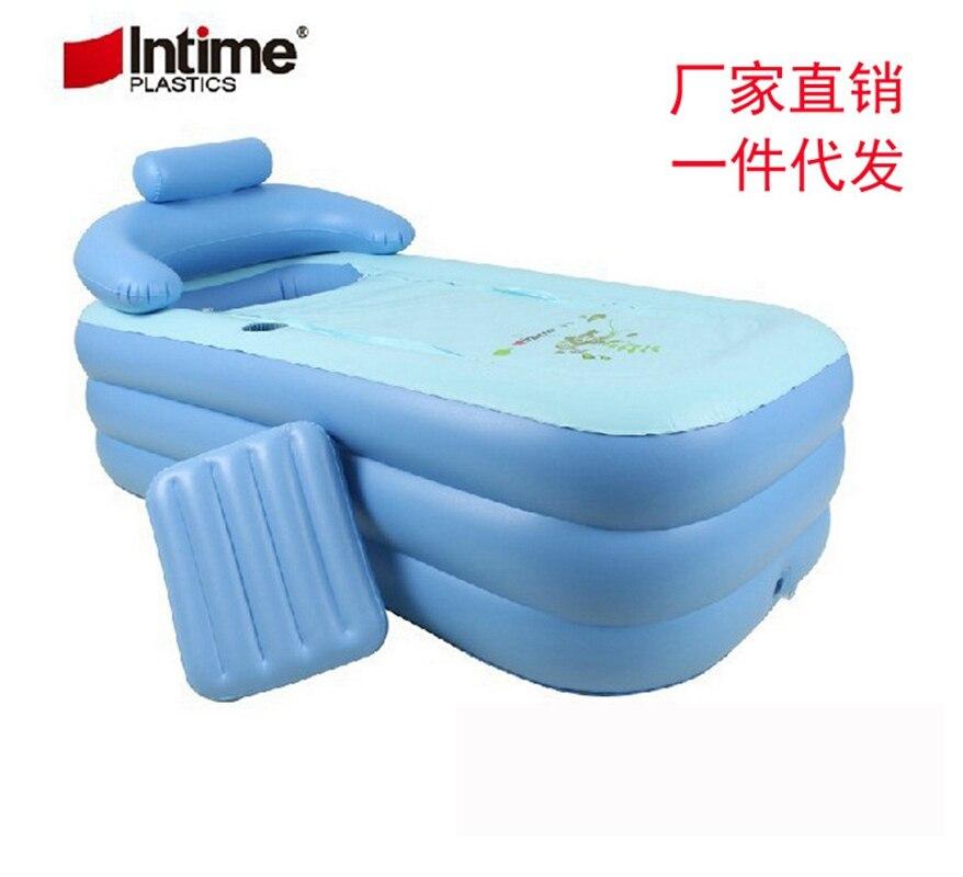 Лето Лидер продаж для взрослых Портативный надувные Для ванной Ванна складной оптовая продажа семьи Для ванной Ванна 160x84x64 см
