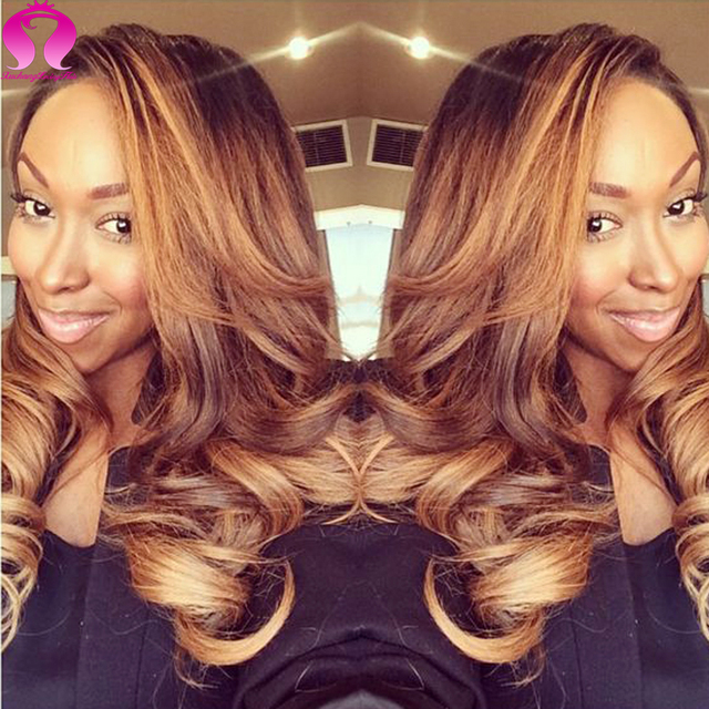 Amazing Hair Ombre Indian Virgin Hair With Cloure 3 Bundles Body Wave With Closure Meches Bresilienne Avec Closure Human Hair