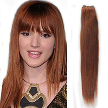 Tissage Des Cheveux Humains Brazilian Hair Weave Extensions 100G Bundle Straight Virgin Human Hair Weft Light Auburn Color #30