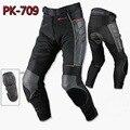 2016 nueva malla de cuero moto de carreras komine verano pantalones motociclismo pantalones moto pantalones de poliéster de nylon anti-lucha libre