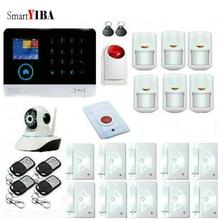 SmartYIBA RFID WIFI GSM Alarm System Home Burglar Security Protection Alarm Network Camera Surveillance Strobe Siren Alarm Kits