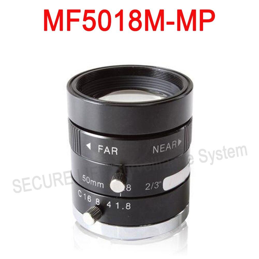 Hik cctv camera lens MF5018M-MP Fixed Focal Manual Iris MP Lens 50mm hik повседневные брюки