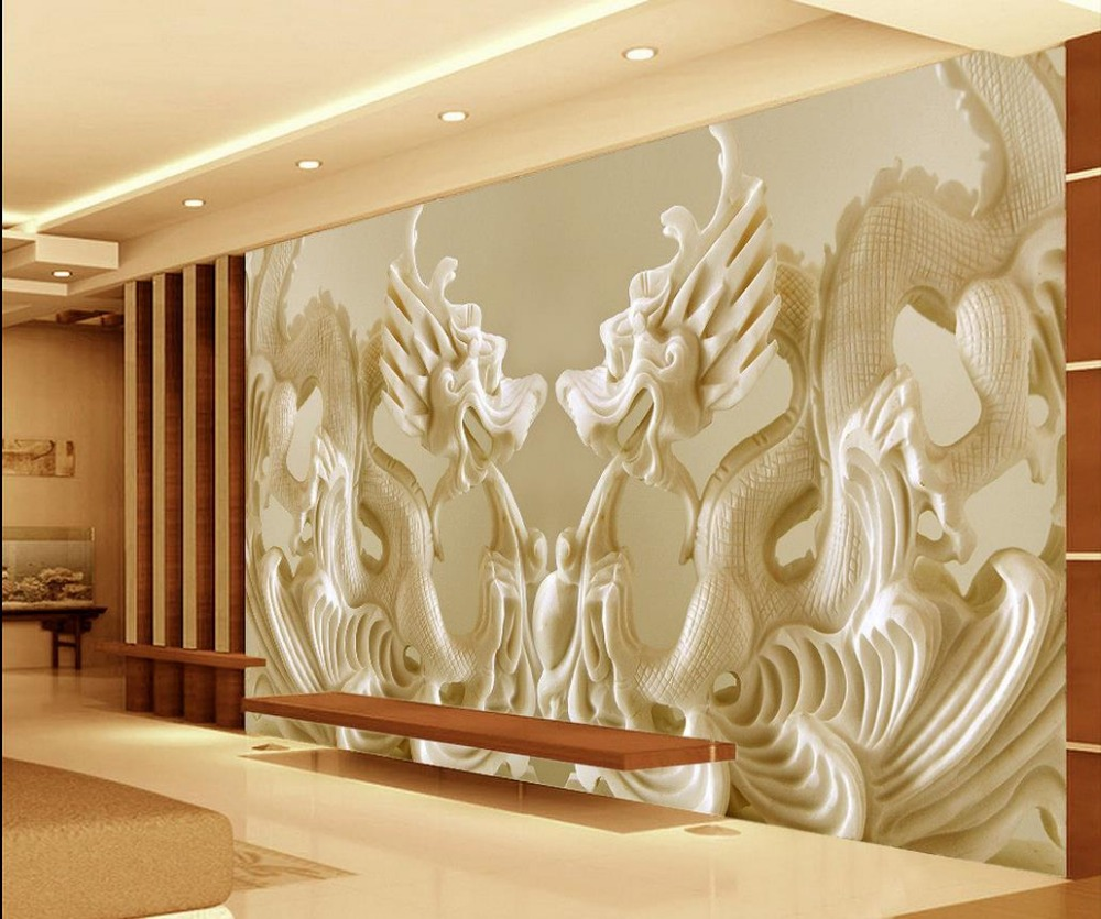 Custom Photo Murals Wallpaper 3D Stereo Relief European Angel Art ...