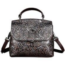 Luxus Fashion Echtes Leder Distressed Casual Bag frauen Handtasche Umhängetaschen Damen Umhängetasche Stil Design