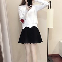 Knitted Pullovers And Short Tutu Skirts Suit