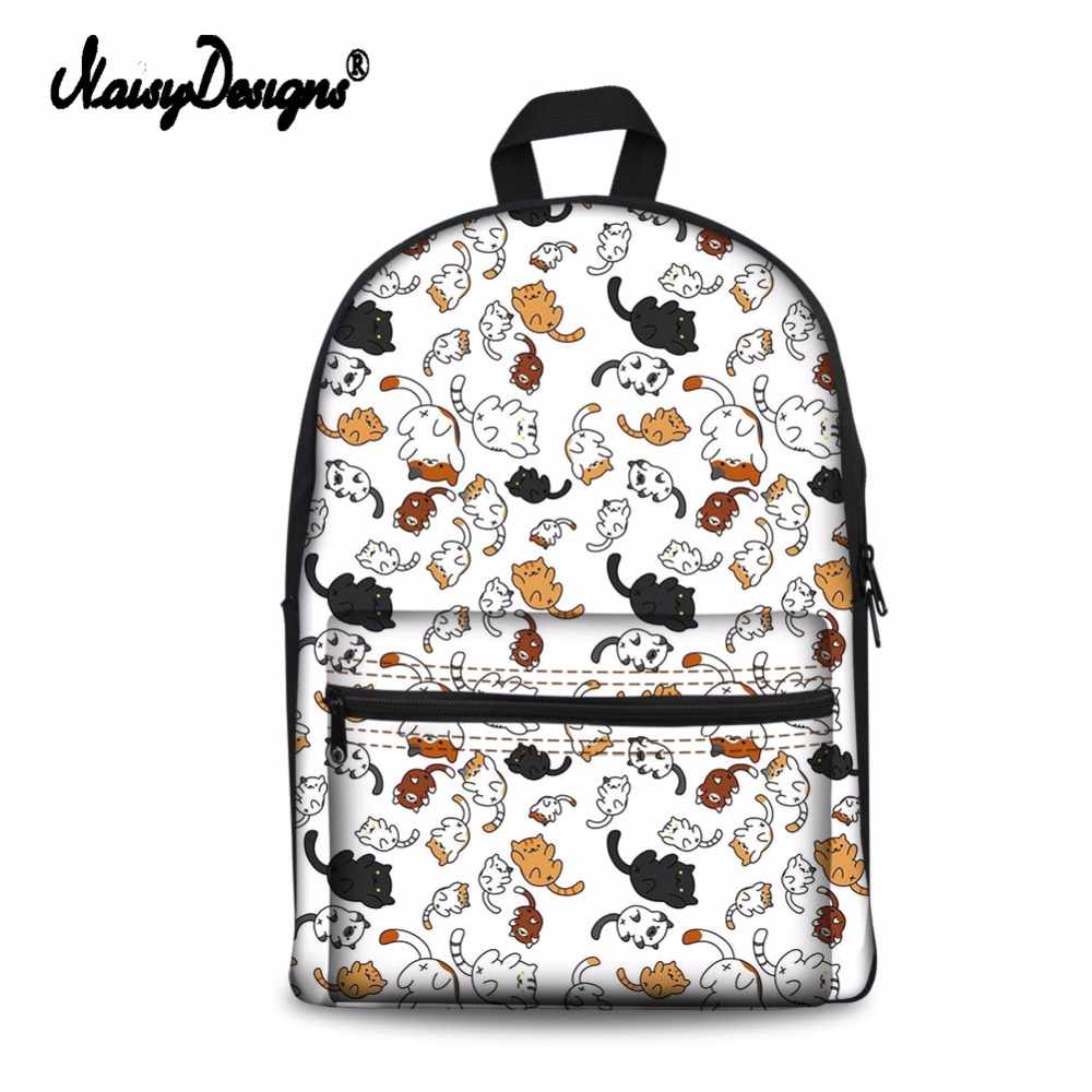 Noisydesigns 여성 학교 가방 동물 3d 재미 있은 고양이 패턴 학생 학교 노트북 캐주얼 배낭 청소년 소녀 여행 배낭-에서백팩부터 수화물 & 가방 의  그룹 1