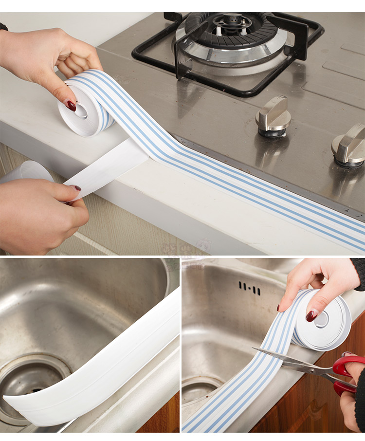 Colored stripe kitchen mildew waterproof tape corner line door stickers window stickers moisture mildew protection bumper strips