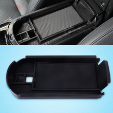 DWCX Car Black ABS Plastic Rubber Inner Armrest Center Console Storage Box Coin Tray + 3x Rubber Pads Fit for Toyota CHR 2017 shineka car styling soft rubber armrest box trim cap center console storage box soft rubber cover for jeep wrangler tj
