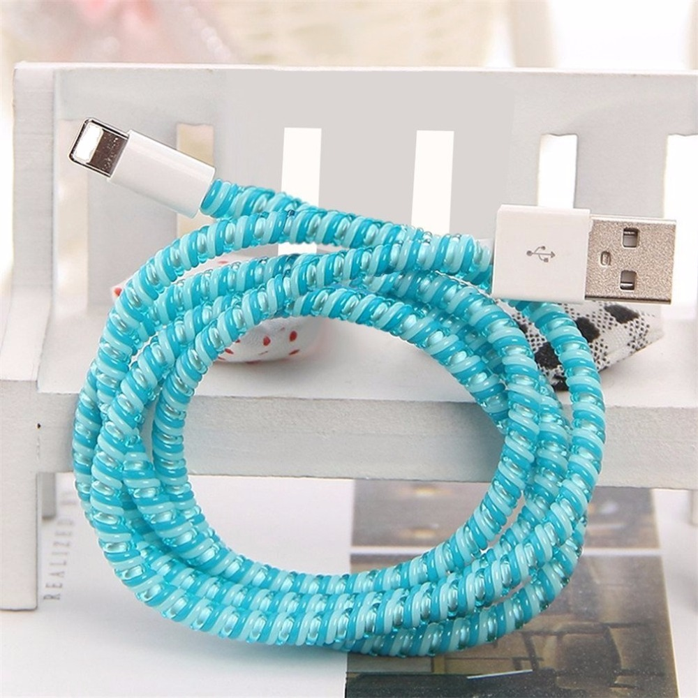 DIY Cartoon Style Spiral Wire Protectors Wire Organizer Cord Font B